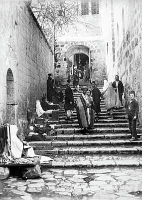 Photograph - Holy Sepulchre Stairs by Munir Alawi