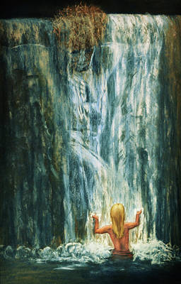 Inspirational Art Display Pastel - Holy Shower by Denise Gater