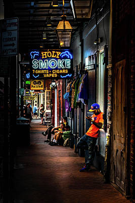 Photograph - Holy Smoke Bourbon Street by Greg Mimbs