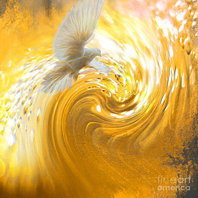 Prophetic Art Wall Art - Digital Art - Holy Spirit Come by Beverly Guilliams