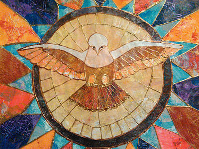 Carol Cole Painting - Holy Spirit Dove St. Peter's by Carol Cole