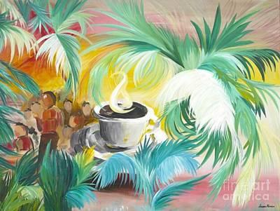Green Beans Painting - Holy Spirit Fellowship by Susan Harris