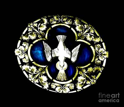 Photograph - Holy Spirit Stained Glass Window Soft Effect by Rose Santuci-Sofranko