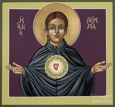 Painting - Holy Stigmatist St Gemma Galgani 114 by William Hart McNichols