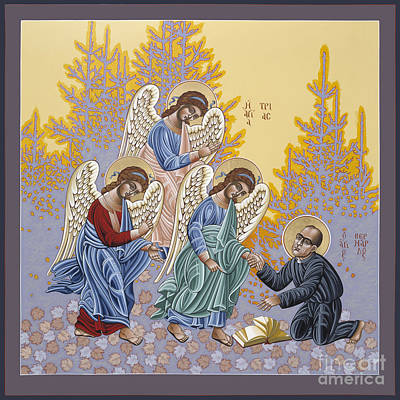 Holy Trinity Icon Painting - Holy Theologian Bernard Lonergan 122 by William Hart McNichols