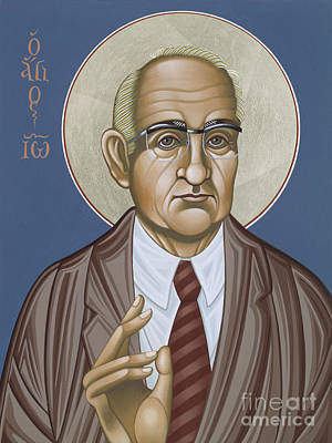 Painting - Holy Theologian Hans Urs Von Balthasar 110 by William Hart McNichols