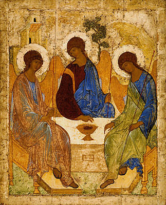 Sacral Painting - Holy Trinity Andrei Rublev by Magdalena Walulik