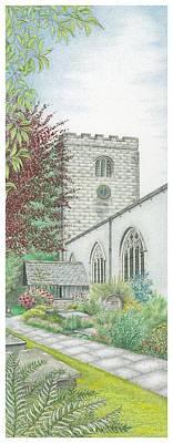 Holy Trinity Church Clock Bolton Le Sands Lancashire Art Print by Sandra Moore