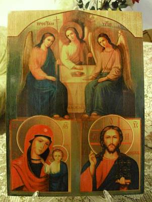 Holy Trinity, Mother Of God, Lord Almighty Original by Elena Michaylitchenko