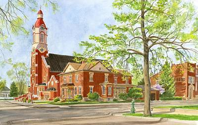 Painting - Holy Trinity Parish by Phyllis Martino