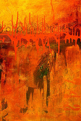 Painting - Holy War Abstract Painting by Nancy Merkle