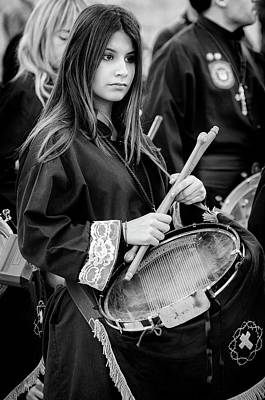 Photograph - Holy Week Drummer by Pablo Lopez