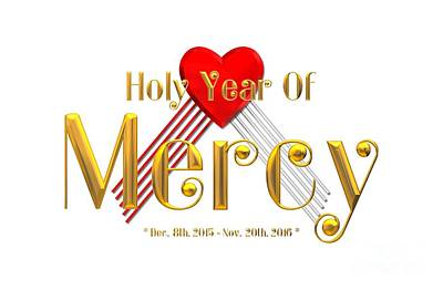 Mercy Digital Art - Holy Year Of Mercy by Rose Santuci-Sofranko