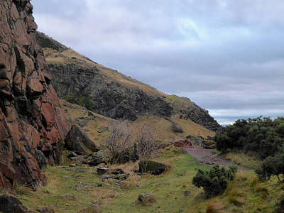 Winter Animals Rights Managed Images - Holyrood Park hike Royalty-Free Image by Margaret Brooks