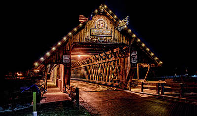 Michigan Frankenmuth Photograph - Holz Brucke - Frankenmuth by Wes Iversen