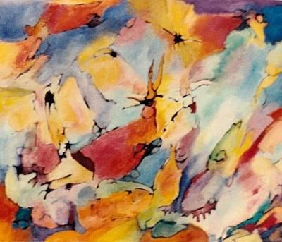 Painting - Homage A Kandinsky by Bernard Goodman