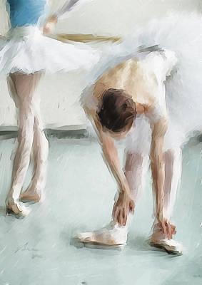Ballerinas Digital Art - Homage by H James Hoff