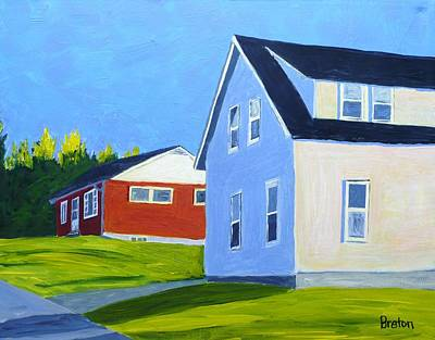 Maine Landscapes Painting - Homage by Laurie Breton