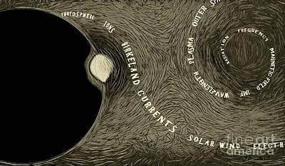 Digital Art - Homage To Birkeland 9 by Tim Richards