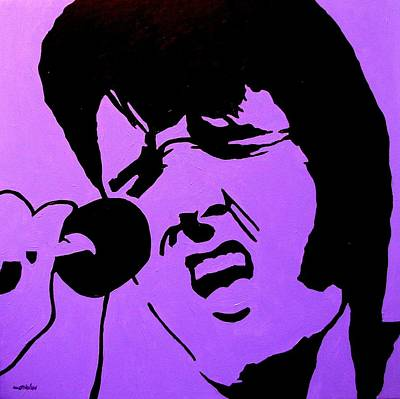 Homage To Elvis Art Print by John  Nolan