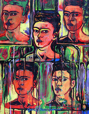 Painting - Homage To Frida Kahlo by Julie Davis Veach