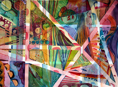 Homage To George Gershwin Art Print by Mindy Newman
