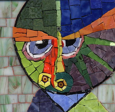 Millefiori Painting - Homage To Klee - Fantasy Face No.4 by Gila Rayberg