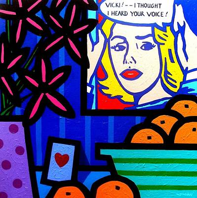 Crying Painting - Homage To Lichtenstein -  Still Life by John  Nolan