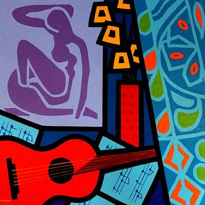Curtains Painting - Homage To Matisse II by John  Nolan
