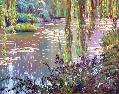 Lilies Painting - Homage To Monet by David Lloyd Glover