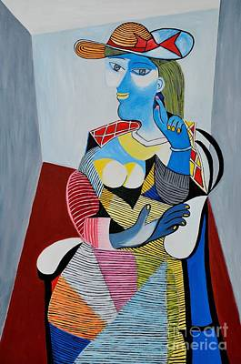 Picasso Style Painting - Homage To Pablo Picasso by Art by Danielle