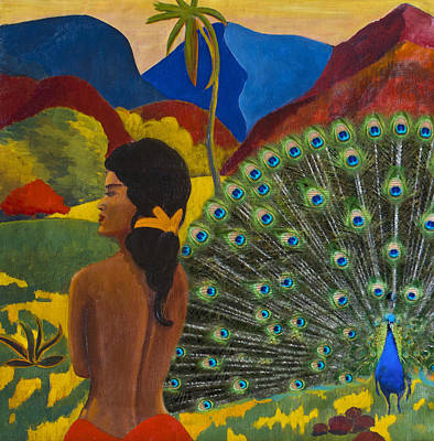 Homage To Paul Gauguin Art Print