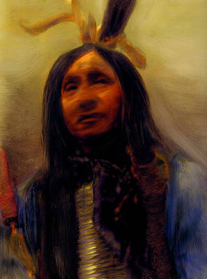 Art Print featuring the painting Homage To The Ancient Ones by FeatherStone Studio Julie A Miller