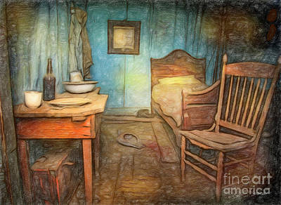 Photograph - Homage To Van Gogh's Room by Craig J Satterlee