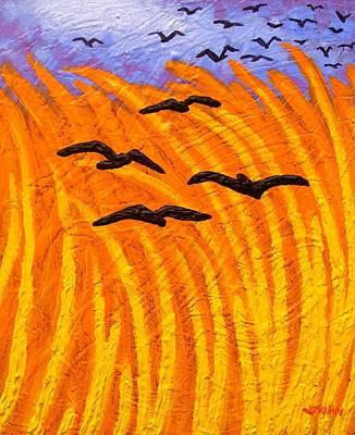 Landscape Poster Painting - Homage To Vincent Van Gogh by John  Nolan