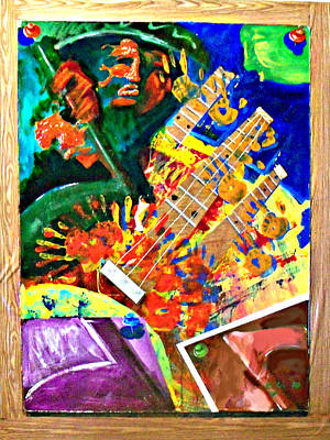 Hombre Con Guitarra Print by Elio Lopez
