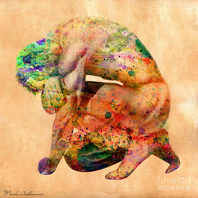 Human Being Digital Art - Hombre Triste by Mark Ashkenazi