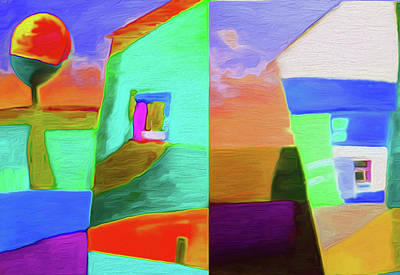 Limited Edition Mixed Media - Home 1a By Nixo by Nicholas Nixo