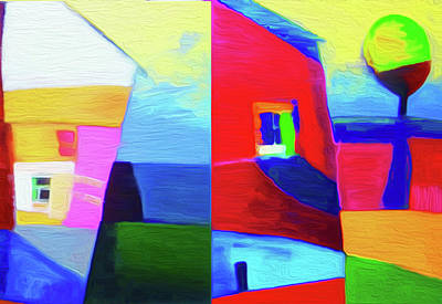 Limited Edition Mixed Media - Home Abstract By Nixo by Nicholas Nixo