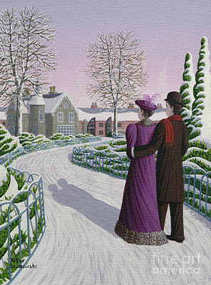 Bowler Painting - Home At Twilight by Peter Szumowski