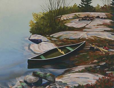 Painting - Home Base - Bass Lake by Phil Chadwick
