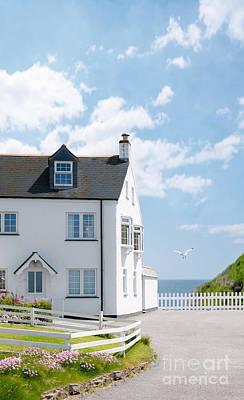 Home By The Sea Art Print by Amanda Elwell