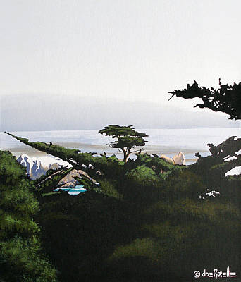 Carmel By The Sea Painting - Home By The Sea by Joe Roselle