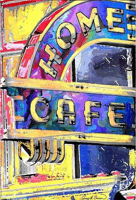 Home Cafe Art Print by Gary Carson