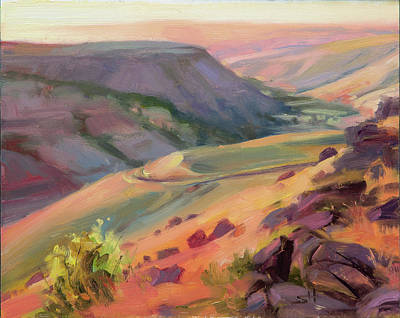 Countryside Painting - Home Country by Steve Henderson