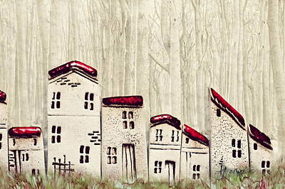 Row Mixed Media - Home Decor by Heike Hultsch
