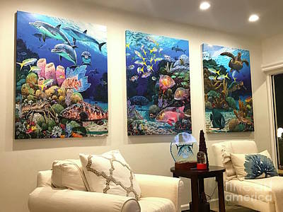 Shark Painting - Home Decorations by Carey Chen