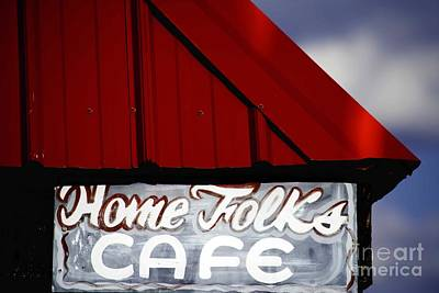 Home Folks Cafe Art Print