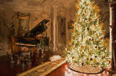 Digital Art - Home For Christmas by Cathy Jourdan