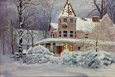 Painting - Home For Christmas by Rick Fitzsimons